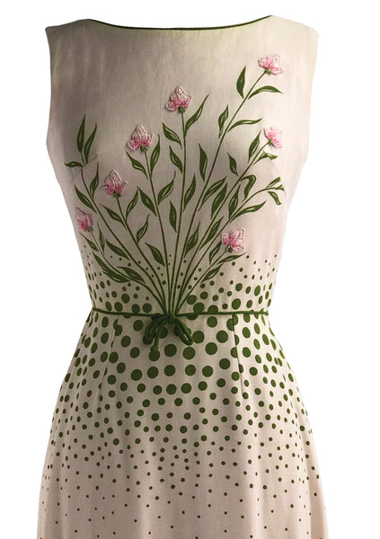 Early 1960s Cover Girl of Miami Pink Linen Dress- New!