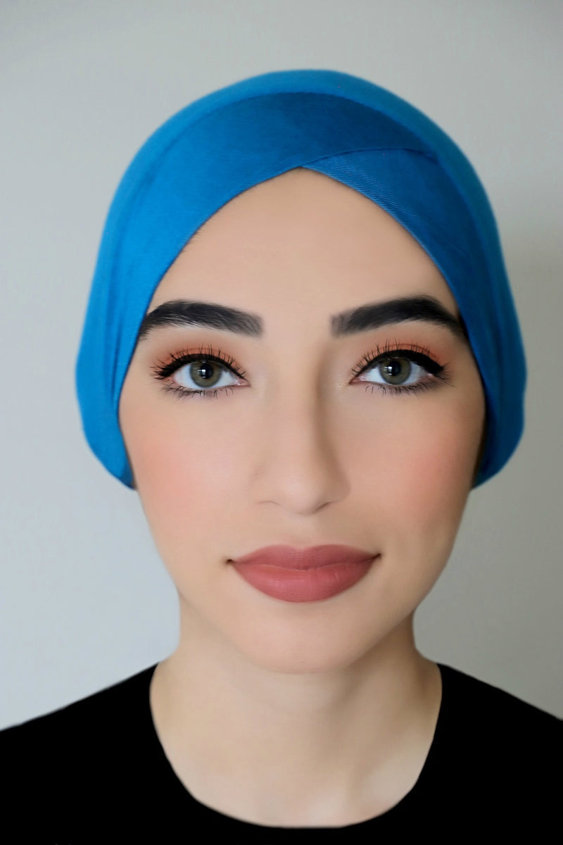 Criss Cross Headband-Turquoise
