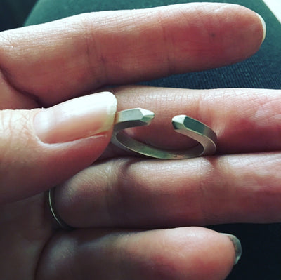 Faceted Open Band Ring