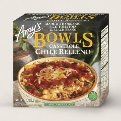 Amy's Chili Relleno Casserole Bowl, 9 Oz (Pack of 12)