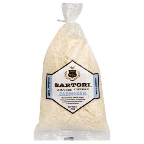 Sartori Parmesan Grated Cheese, 8 Oz (Pack of 16)
