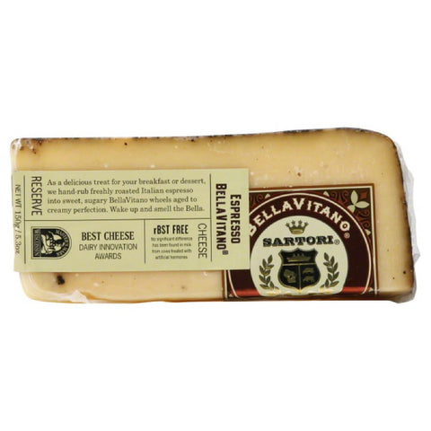 Sartori Espresso Bella Vitano Cheese, 5.3 Oz (Pack of 12)