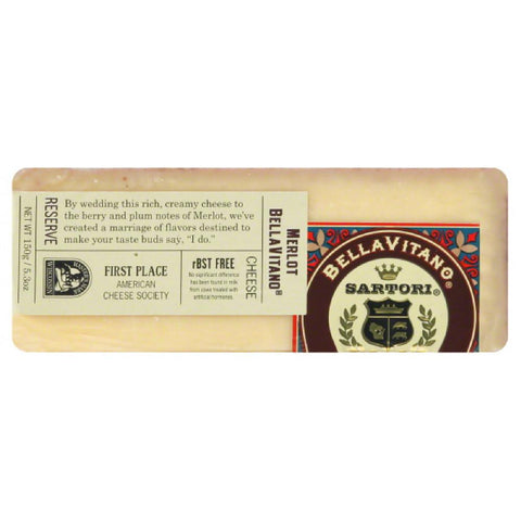 Sartori Merlot BellaVitano Cheese, 5.3 Oz (Pack of 12)
