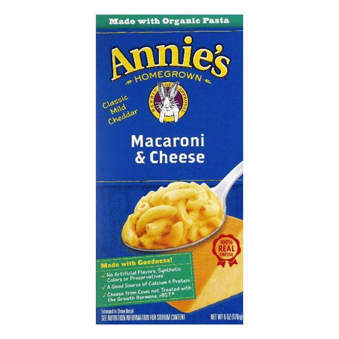 Annies Homegrown Mac & cheese Classic, 6 OZ (Pack of 12)
