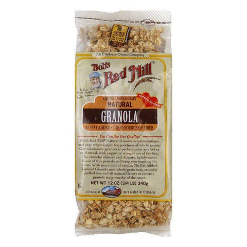 Bobs Red Mill Granola Natural NO-FAT ADDED, 12 OZ (Pack of 4)