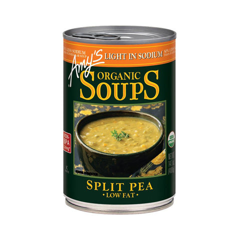Amy's Kitchen Organic Light in Sodium - Split Pea Soup, 14.1 Oz (Pack of 12)