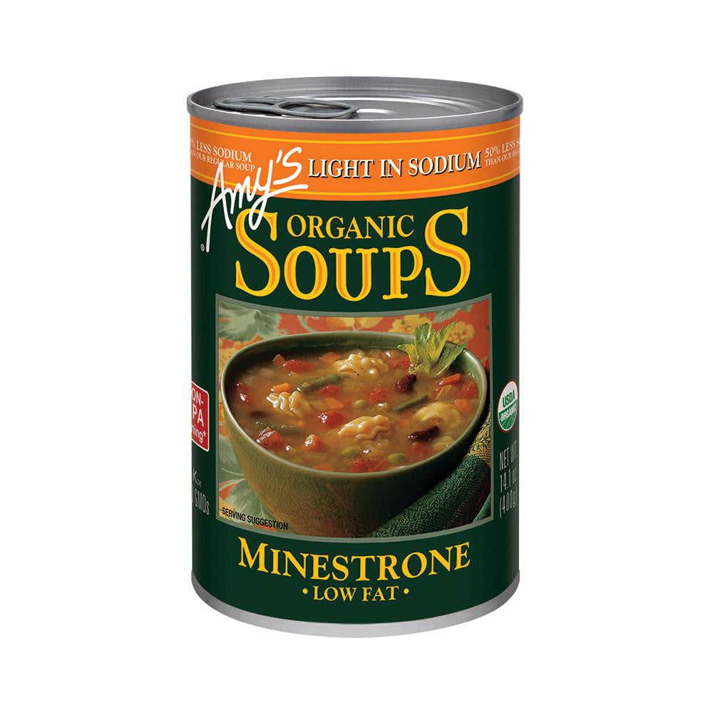 Amy's Kitchen Organic Light in Sodium - Minestrone Soup, 14.1 Oz (Pack of 12)