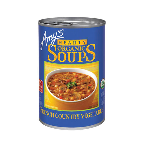 Amy's Kitchen Organic Hearty French Country Vegetable Soup, 14.4 Oz (Pack of 12)