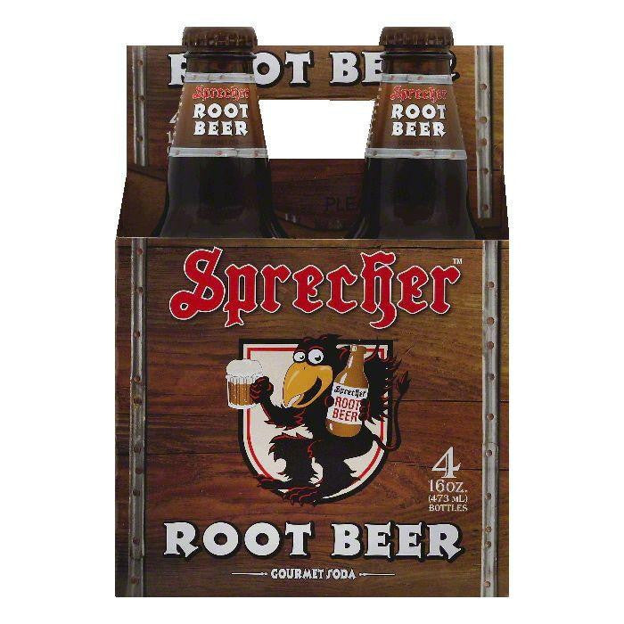 Sprecher Root Beer Gourmet Soda, 4 ea (Pack of 6)