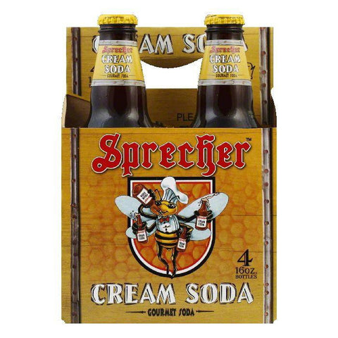 Sprecher Cream Soda 4 pack, 64 FO (Pack of 6)