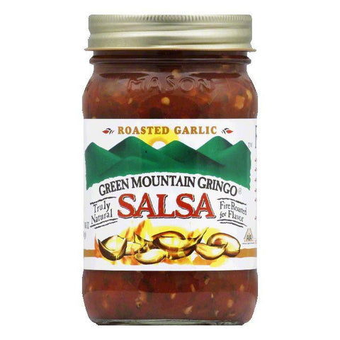 Green Mountain Gringo Salsa Roasted Garlic, 16 OZ (Pack of 6)