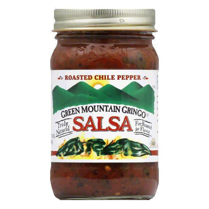 Green Mountain Gringo Salsa Roasted Chile, 16 OZ (Pack of 6)