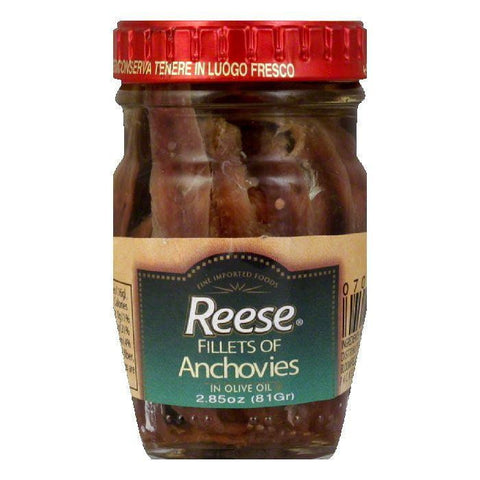 Reese Flat Anchovies Glass, 3.5 OZ (Pack of 12)