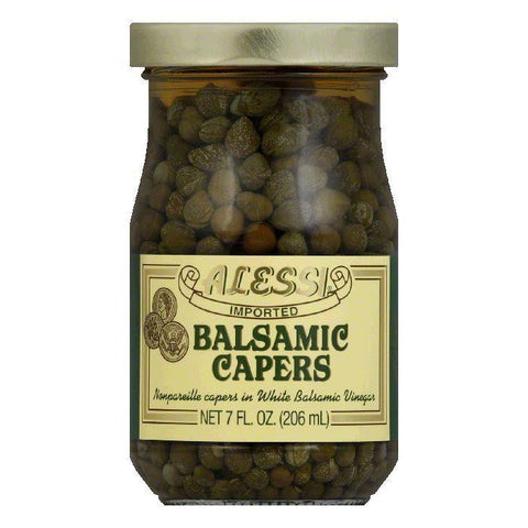 Alessi Capers White Balsamic, 7 OZ (Pack of 6)