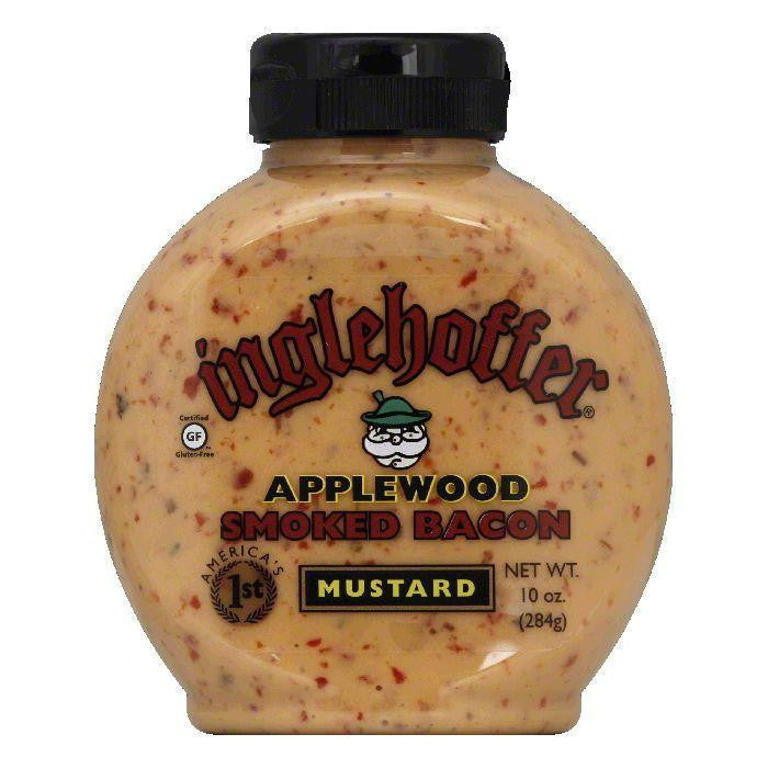 Inglehoffer Applewood Bacon Sqz Mustard, 10 OZ (Pack of 6)