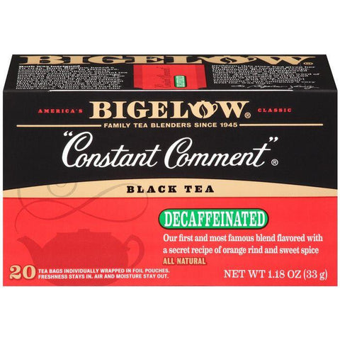 "Bigelow ""Constant Comment"" Decaffeinated Black Tea Blend 20 ct (Pack of 6)"
