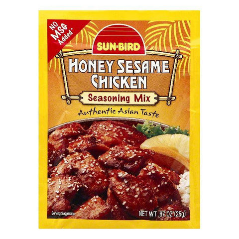 Sun Bird Honey Sesame Chicken Seasoning Mix, 0.87 OZ (Pack of 24)