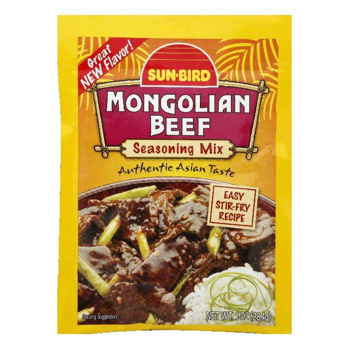 Sun Bird Mongolian Beef Seasoning Mix, 1 OZ (Pack of 24)