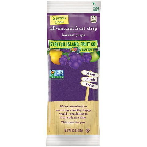 Stretch Island Harvest Grape All-Natural Fruit Strip 0.5 Oz Pack (Pack of 30)