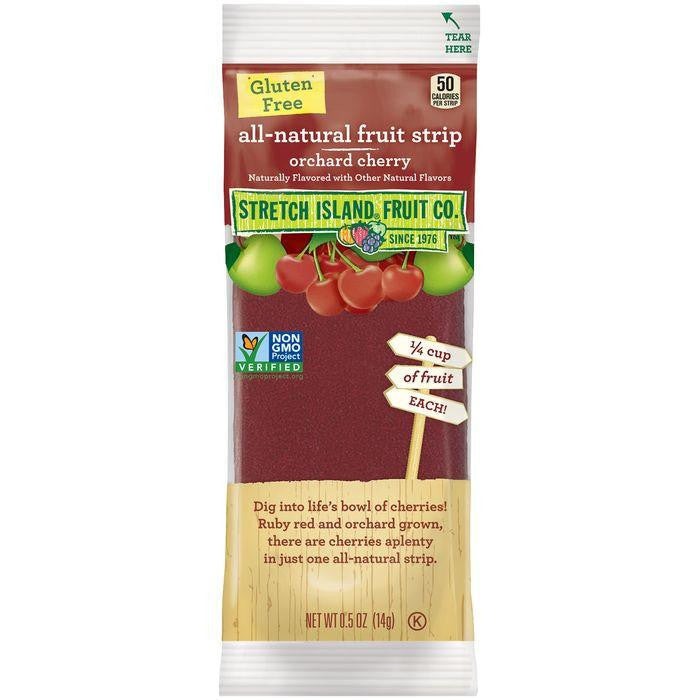 Stretch Island Orchard Cherry All-Natural Fruit Strip 0.5 Oz Pack (Pack of 30)