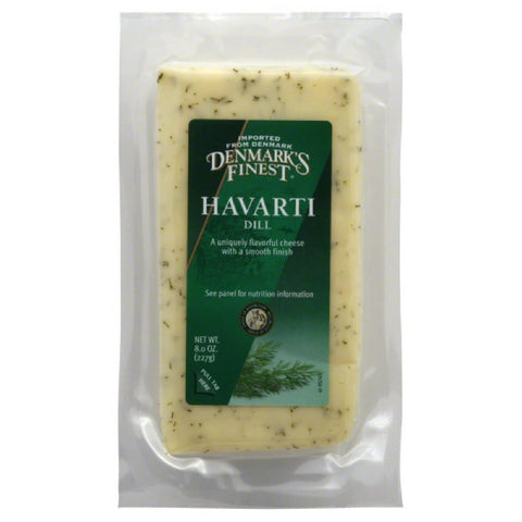 Denmarks Finest Havarti Dill Cheese, 8 Oz (Pack of 12)