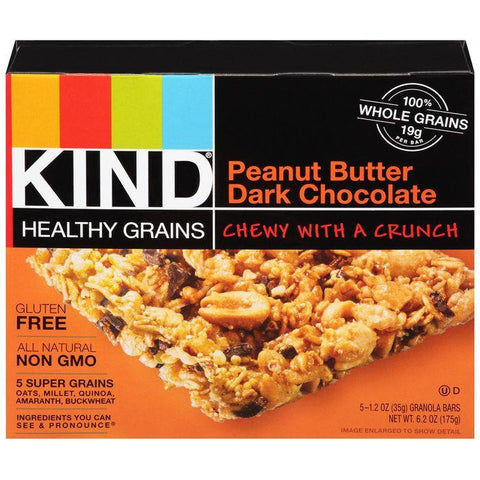 KIND Peanut Butter Dark Chocolate 5-1.2 Oz Granola Bars (Pack of 8)