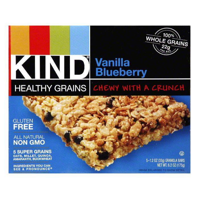 Kind Bar Granola Vanilla Blueberry 5pk Gluen Free, 6 OZ (Pack of 8)