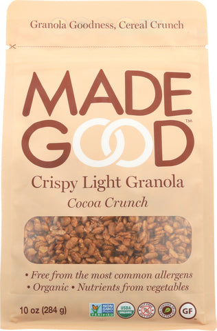 MadeGood Crispy Light Granola Cocoa Crunch, 10Oz (Pack of 8)