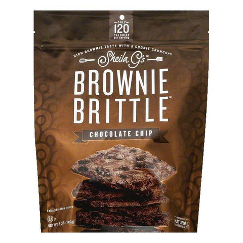 Sheila Gs Chocolate Chip Brownie Brittle, 5 OZ (Pack of 12)