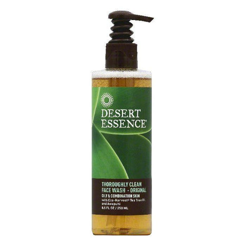 Desert Essence Oily & Combination Skin Original Thoroughly Clean Face Wash, 8.5 OZ (Pack of 3)