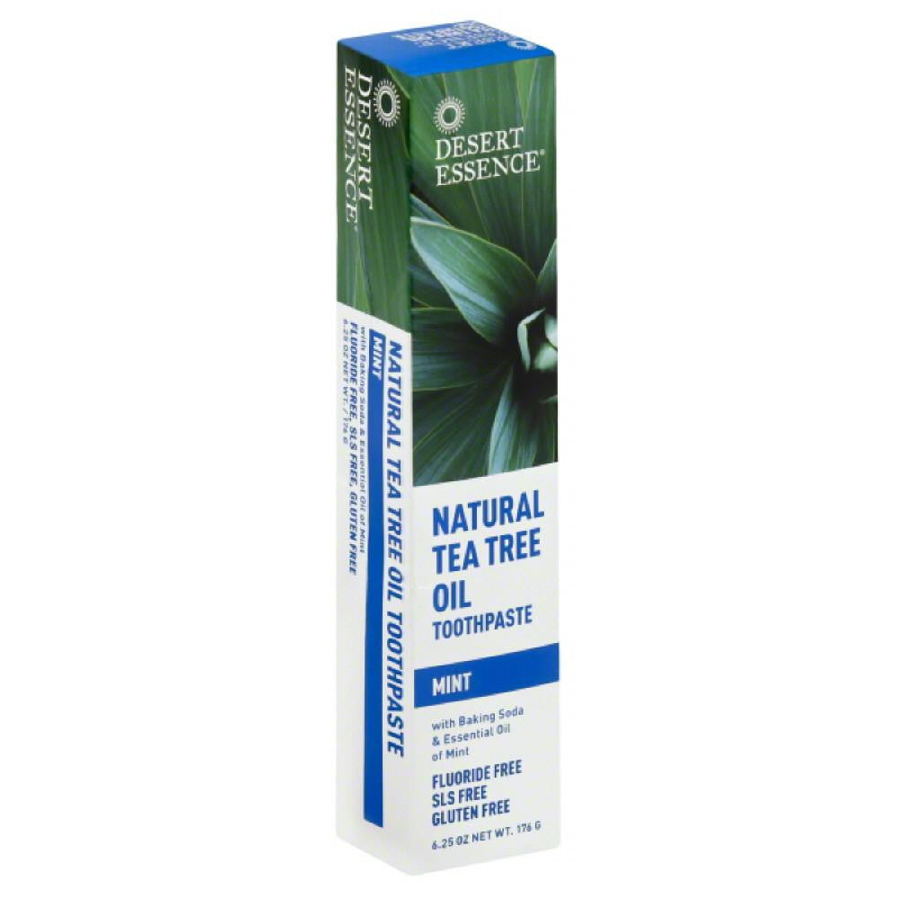 Desert Essence Mint Natural Tea Tree Oil Toothpaste, 6.25 Oz (Pack of 3)