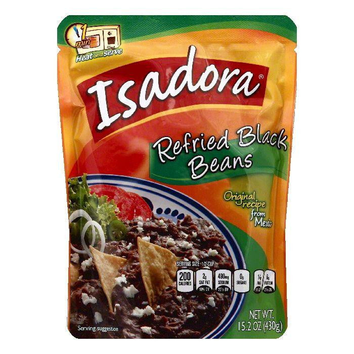 Isadora Refried Black Beans, 15.2 OZ (Pack of 8)