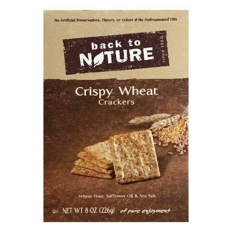 Back To Nature Crispy Wheat Crackers, 8 OZ (Pack of 6)