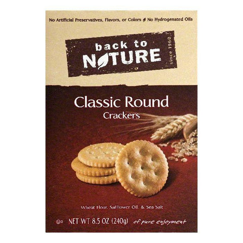 Back To Nature Classic Round Crackers, 8.5 OZ (Pack of 6)