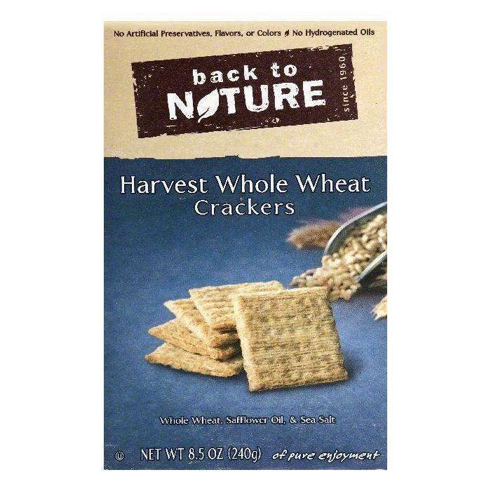 Back To Nature Harvest Whole Wheat Crackers, 8.5 OZ (Pack of 12)