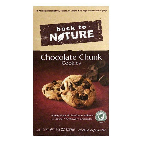 Back To Nature Chocolate Chunk Cookies, 9.5 OZ (Pack of 6)
