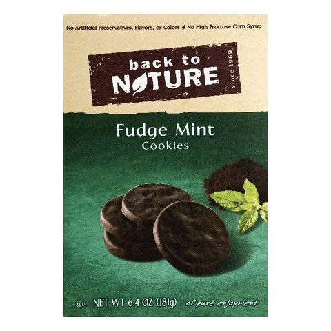 Back To Nature Fudge Mint Cookies, 6.4 OZ (Pack of 6)