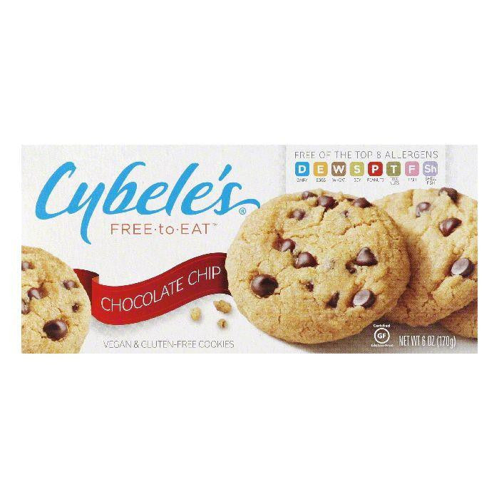 Cybeles Chocolate Chip Vegan & Gluten-Free Cookies, 6 Oz (Pack of 6)