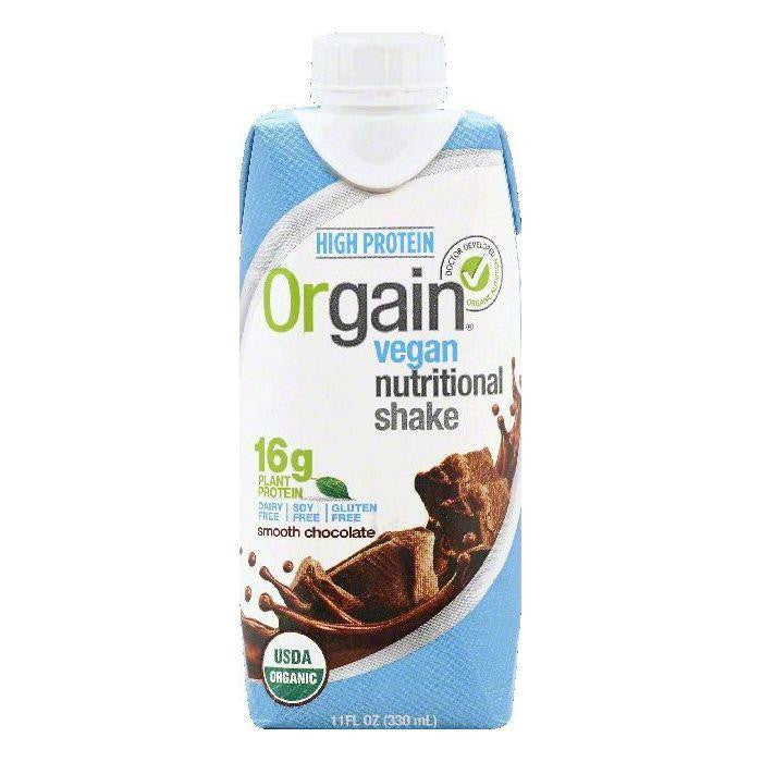 Orgain Smooth Chocolate Vegan Nutritional Shake, 11 OZ (Pack of 12)