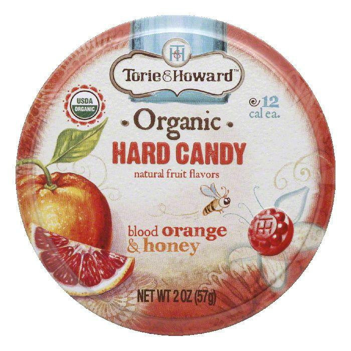 Torie & Howard Blood Orange & Honey Candy Tin, 2 OZ (Pack of 8)