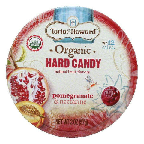Torie & Howard Pomegranate & Nectarine Candy Tin, 2 OZ (Pack of 8)
