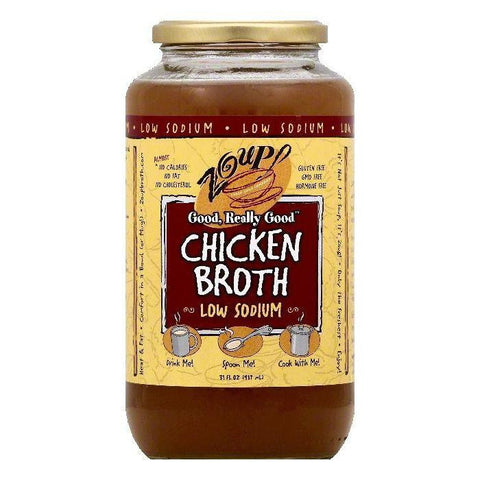 Zoup Low Sodium Chicken Broth, 31 OZ (Pack of 6)