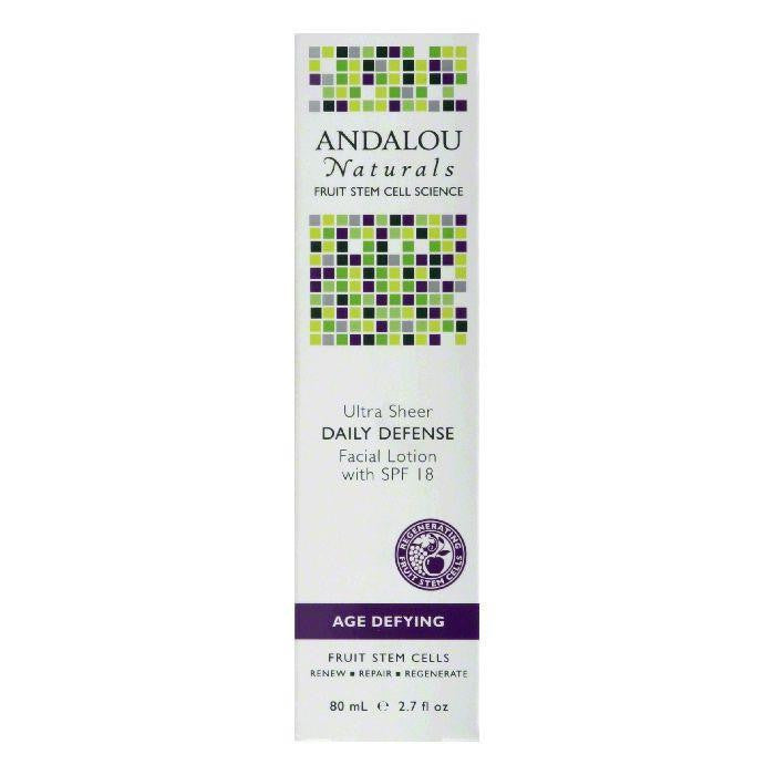 Andalou Naturals Age Defying with SPF 18 Daily Defense Facial Lotion, 2.7 Oz