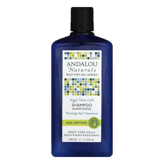 Andalou Naturals Argan Stem Cells Thinning Hair Treatment Age Defying Shampoo, 11.5 Oz