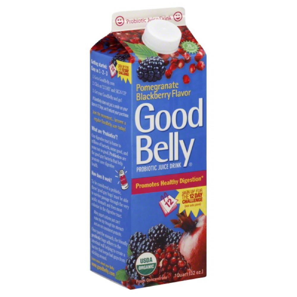 Good Belly Pomegranate Blackberry Flavor Probiotic Juice Drink, 32 Oz (Pack of 6)