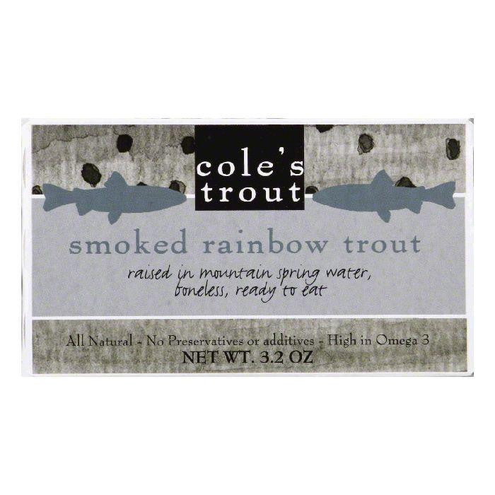 Cole's Smoked Trout, 3.2 OZ (Pack of 10)