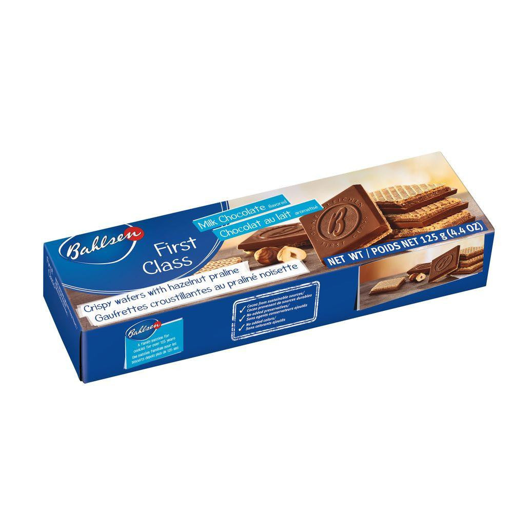 Bahlsen First Class Milk Chocolate Hazelnut Wafers, 4.4 Oz (Pack of 12)