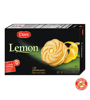 Dare Lemon Creme Cookies, 10.2 OZ (Pack of 12)