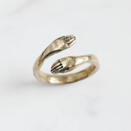 Protective hand ring - brass