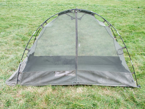 Army surplus single man mosquito tent.